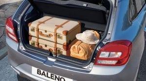 Suzuki Baleno trunk space