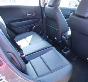 Honda HR-V, interior rear passenger seat view