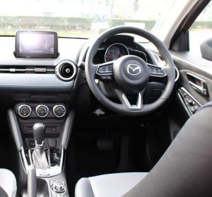 Mazda 2 website interior driver view