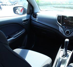 Suzuki Baleno Website interior front pass view