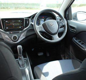 Suzuki Baleno Website interior front view