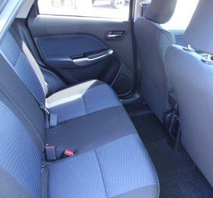 Suzuki Baleno Website interior rear seat view
