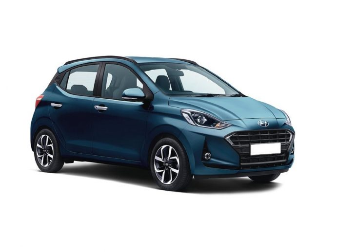 Hyundai Grand i10 front right side diagional view