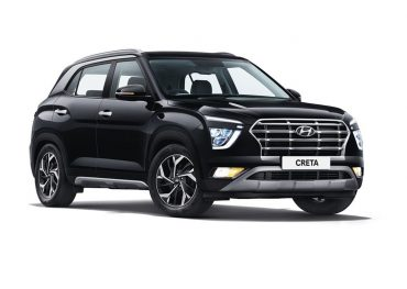 Hyundai front right side view, phantom black color