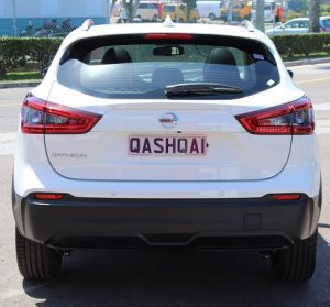 Nissan Qashqai website rear view