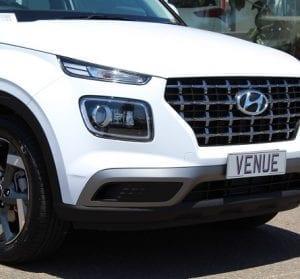 Hyundai Venue website close up view