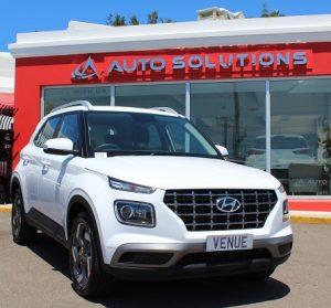 Hyundai Venue front view, color white