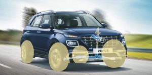 hyundai venue VSM VSM (Vehicle Stability Management) avoids loss of control during sudden braking or rapid accelerating under asymmetric road conditions